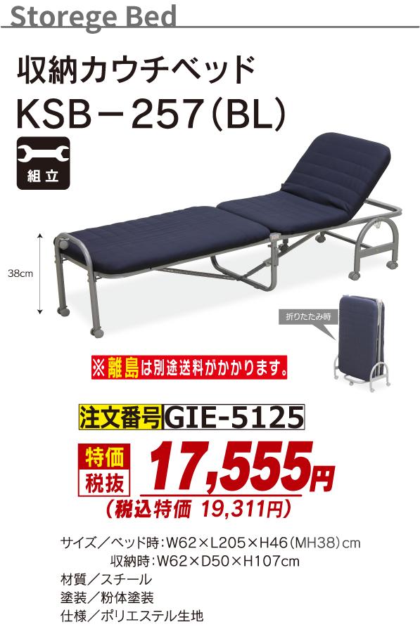 5125_収納カウチベッド_KSB-257BL